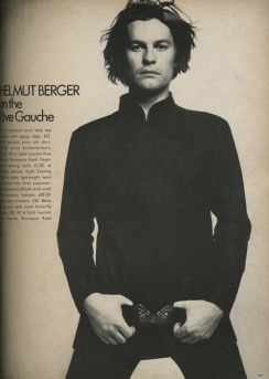 E.O.F. STYLE IDOL - HELMUT BERGER - THE EYE OF FAITH VINTAGE STYLE BLOG- vogueuk_apr71