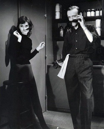 PARTY PEOPLE- THE EYE OF FAITH VINTAGE STYLE BLOG- Audrey Hepburn & Fred Astaire Acting A Fool