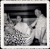 PARTY PEOPLE- THE EYE OF FAITH VINTAGE STYLE BLOG- Drunk 1960S Hawaiian Shirt Asshole