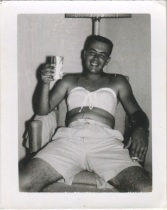 PARTY PEOPLE- THE EYE OF FAITH VINTAGE STYLE BLOG- Nothing to See Here- Cool 1950s Guy wearing a Bra