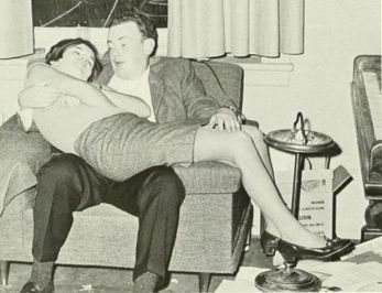 PARTY PEOPLE- THE EYE OF FAITH VINTAGE STYLE BLOG- Too Tired For This Shit - Cool 1950s Couple Passed Out