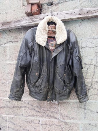 The Eye of Faith Vintage Blog Shop- Leather Shearling Bomber