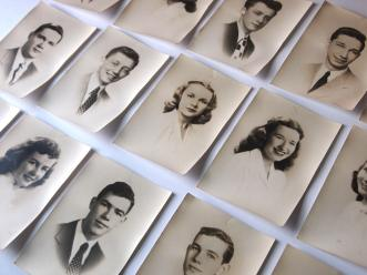The Eye of Faith Vintage Blog Shop- Style Inspiration- Shy Guy 1947- Class Portraits
