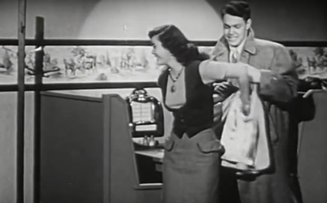the eye of faith vintage blog shop- style inspiration- vintage 1940s educational psa- self-conscious guy - 1951-12
