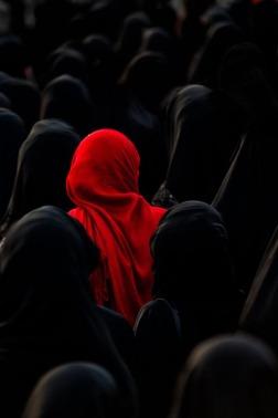lavartus prodeo - the eye of faith vintage blog shop- style inspiration-masked style photo blast- black and red masked group worship