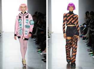 The Eye of Faith Vintage Blog Shop - Style Inspiration - Retro Future 90s Fashion-Jeremy Scott AW 2018-Zenon Vibes