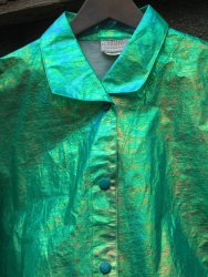 The Eye of Faith Vintage Blog Shop - Style Inspiration - Retro Future 90s Fashion- Linda Lundstom Holographic Jacket- Detail