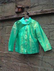 The Eye of Faith Vintage Blog Shop - Style Inspiration - Retro Future 90s Fashion- Linda Lundstrom Hologram Shiny Jacket-RARE VINTAGE