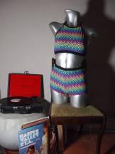 The Eye of Faith Vintage Blog Shop - Style Inspiration - Retro Future 90s Fashion- Rare Jantzen Technicolor 2-Piece Bathing Suit