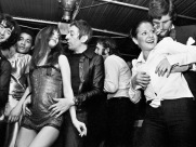 circa 1970, France --- Serge Gainsbourg dances with wife Jane Birkin at a party. --- Image by © Keystone/Corbis