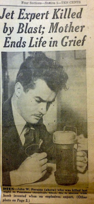JACK PARSONS- Death OF THE ROCKETMAN- The Eye of Faith Vintage