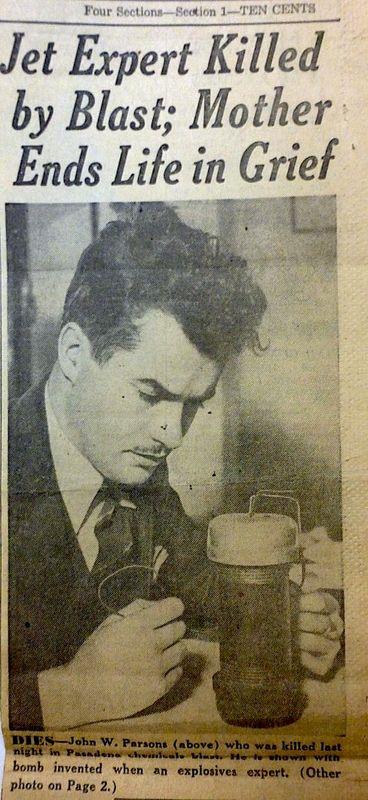 JACK PARSONS- Death OF THE ROCKETMAN- The Eye of Faith Vintage