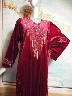 Mysterious Red Kaftan Robe The Eye of Faith Vintage Shop Jack Parsons