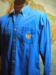 The Eye of Faith Vintae Blog Shop- Mens 1980s Polo Ralph Lauren Blue Button Down Oxford Shirt w: Embroidered Crest