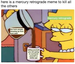 The Eye of Vintage Blog Shop-Mercury Retrograde 2019-lisa simpson meme