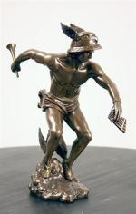 The Eye of Vintage Blog Shop-Mercury Retrograde 2019-statues-hermes-mercury-preparing-for-flight-statue-bronze-finish-8191-1