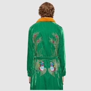 gucci velvet embroidered robe