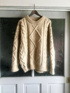 the eye of faith top vintage blog shop - mens ivory aran chunky wool sweater